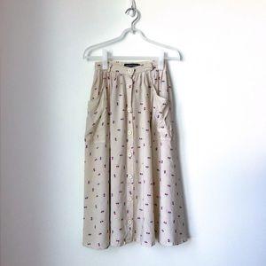American Apparel Midi Skirt